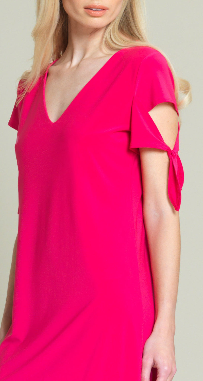 Tie Sleeve Shift Dress - Pink - Limited Sizes - XS, L, XL