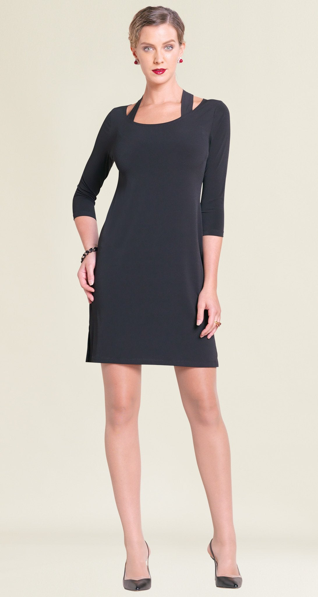 Racer Back Dress - Black - Final Sale