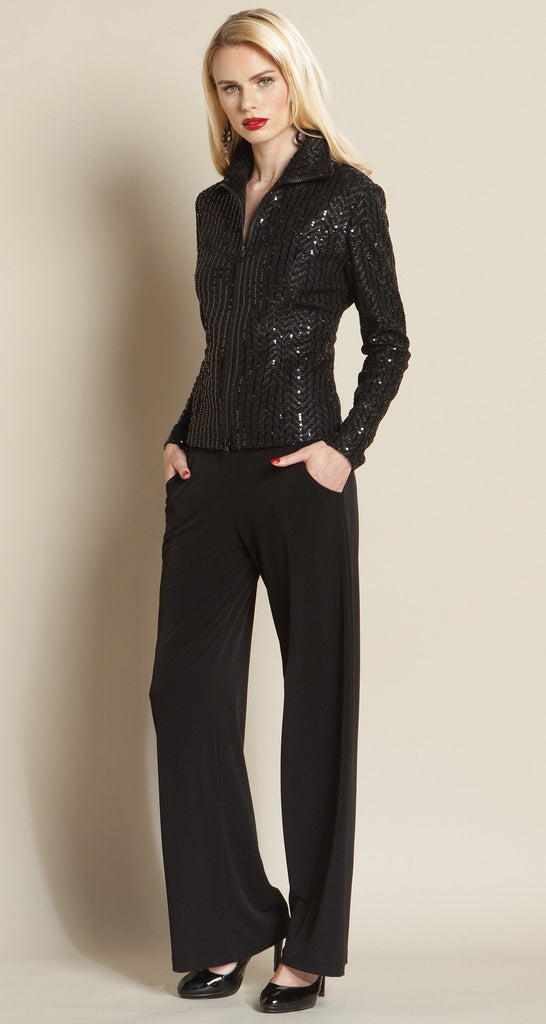 Shimmer Sequin Zip Jacket