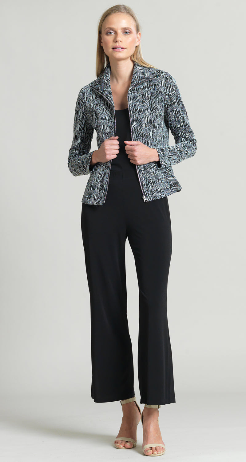 Jacquard Geo Print Zip Jacket - Final Sale! - Clara Sunwoo
