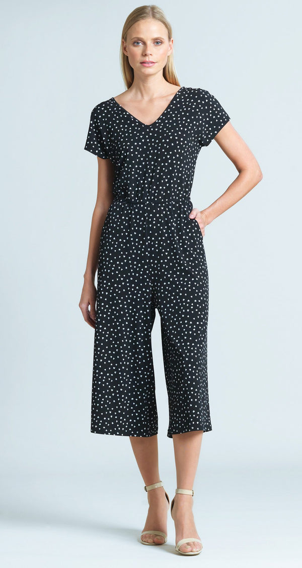 Mini Tulip Print Midi Pocket Jumpsuit - Final Sale!