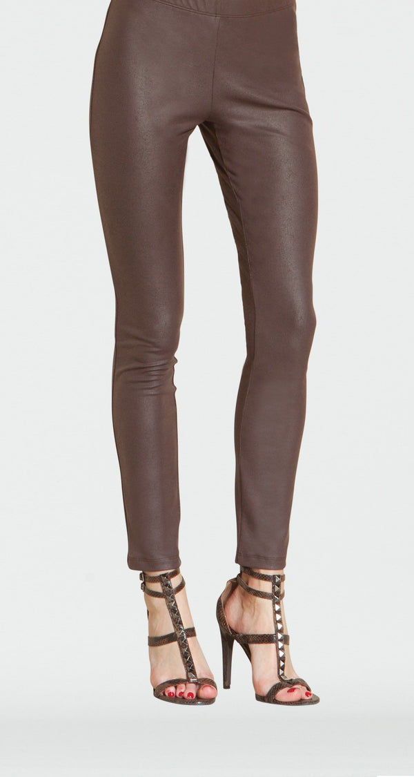 Liquid Leather Legging - Brown - Limited Size L Only!