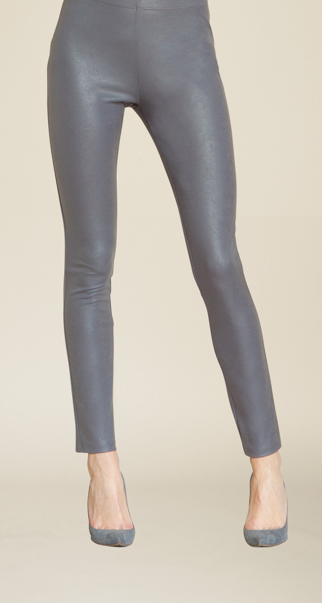 Liquid Leather Legging - Charcoal - Clara Sunwoo