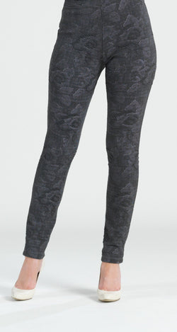 Puckered Print Jacquard Legging - Limited Sizes S & XL Only!