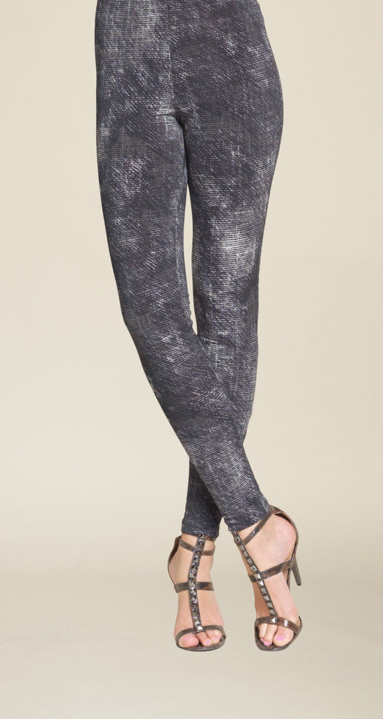Etching Print Legging - Charcoal - Final Sale!
