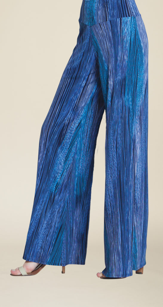 Criss Cross Pinstripe Palazzo Pant - Peri/Blue - Final Sale!