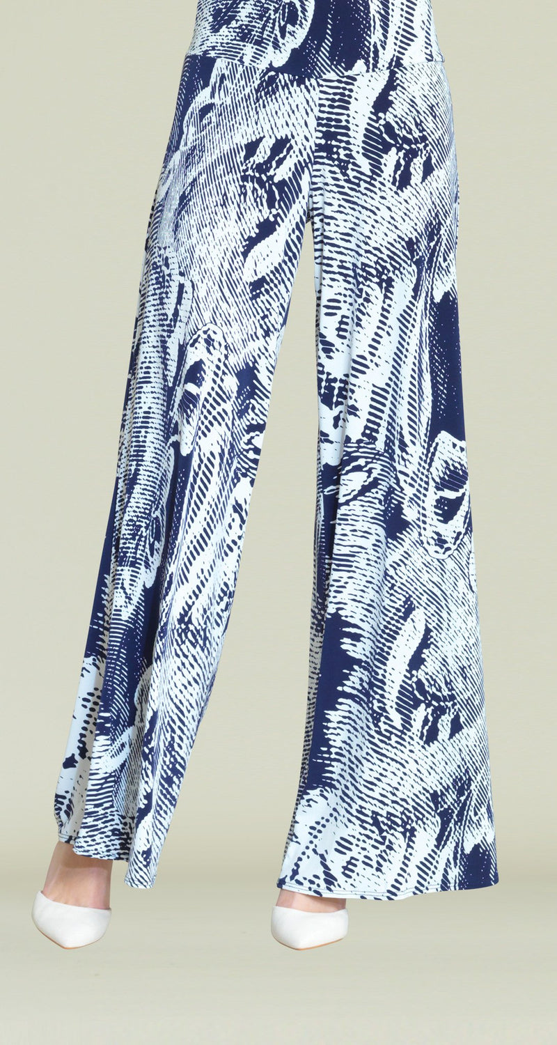 Ocean Waves Print Palazzo Pant - Limited Sizes! - Clara Sunwoo