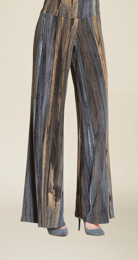Paint Stroke Palazzo Pant - Charcoal Multi - Final Sale