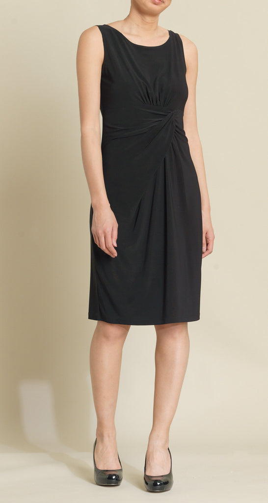 Twist Front Dress - Black - Final Sale!