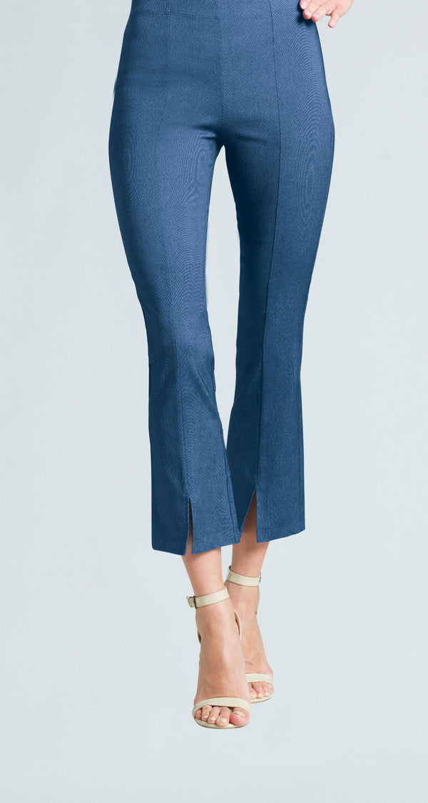 Techno Stretch Center Seam Kick Front Ankle Pant - Blue Denim