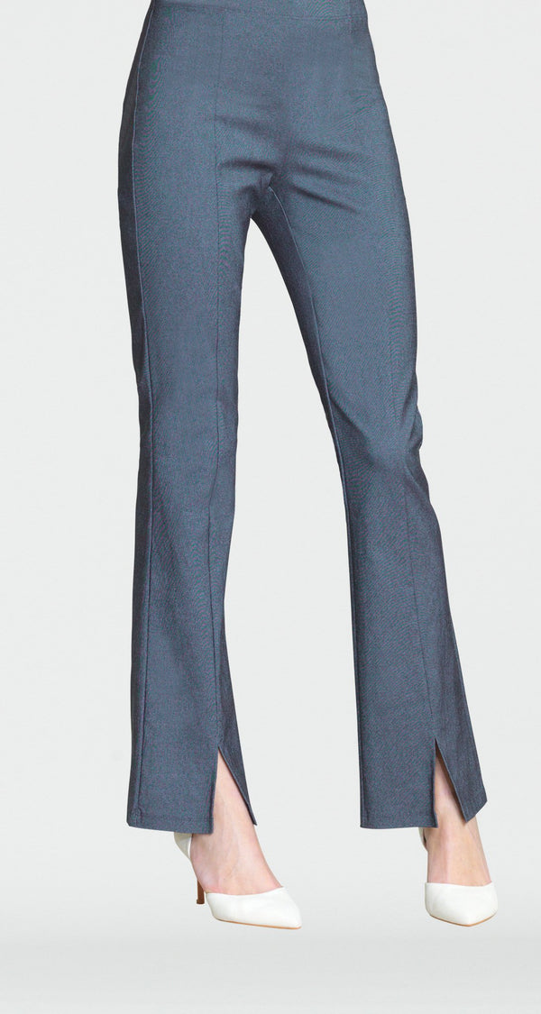 Techno Stretch Center Seam Kick Front Pant - Blue Denim - Final Sale! - Clara Sunwoo
