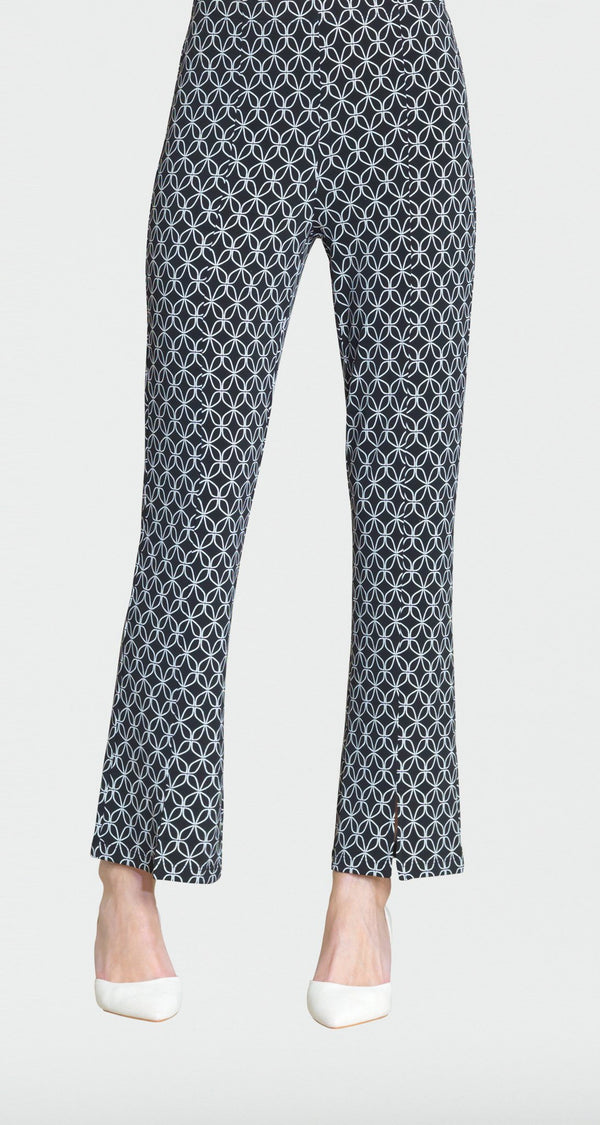 Geo Circular Print Center Seam Kick Front Pant - Final Sale! - Clara Sunwoo