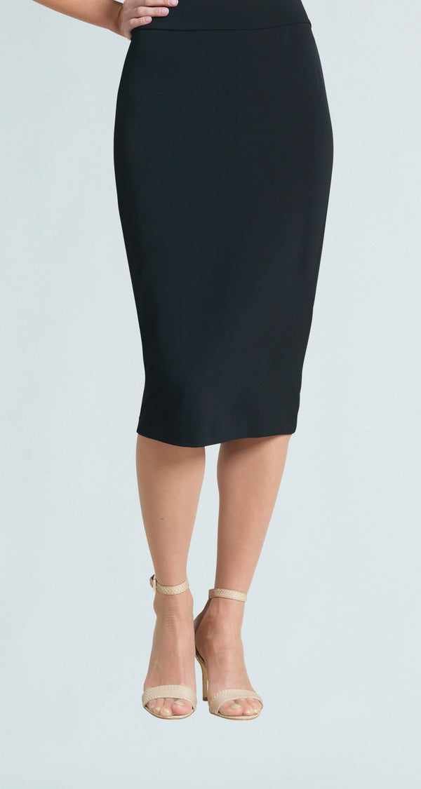 Tapered Midi Skirt - Black