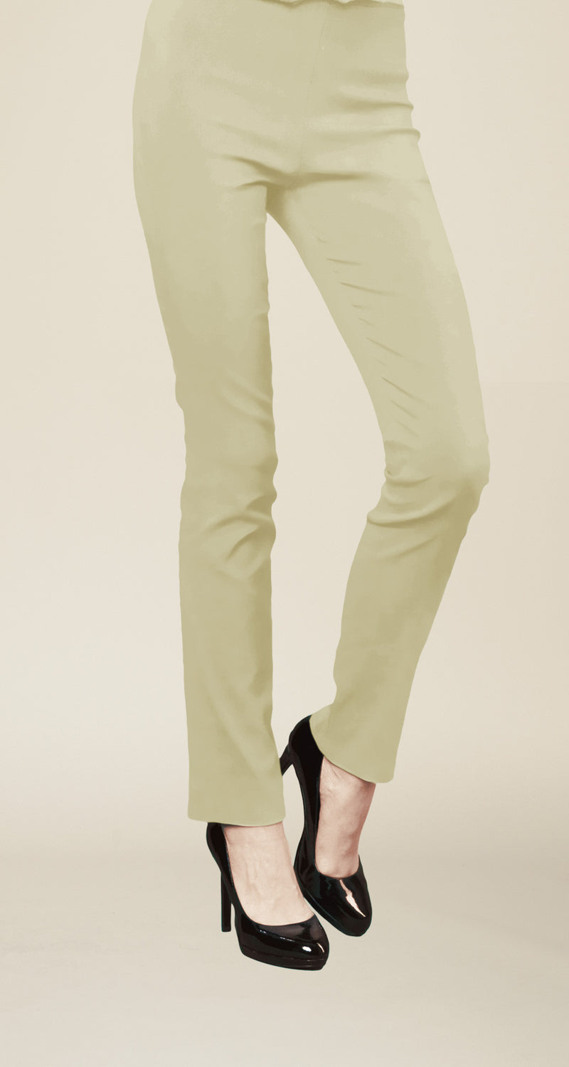 4-Way Stretch Straight Leg Pant - Khaki - Final Sale! - Clara Sunwoo