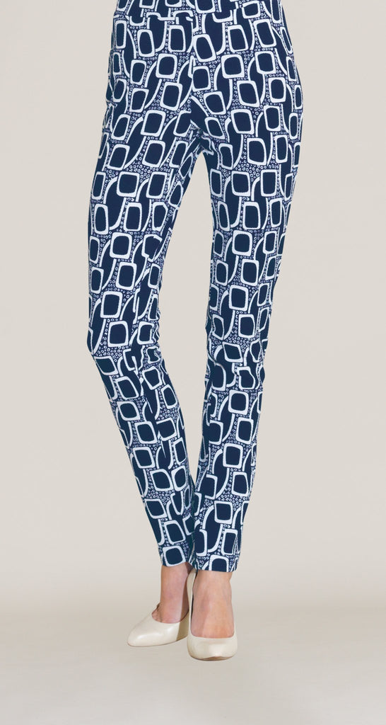 Mod Inspired Textured Slim Leg Pant - Navy/White - Final Sale!