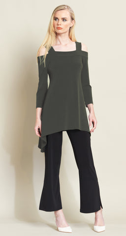 Signature Cold Shoulder Tunic - Olive - Final Sale!