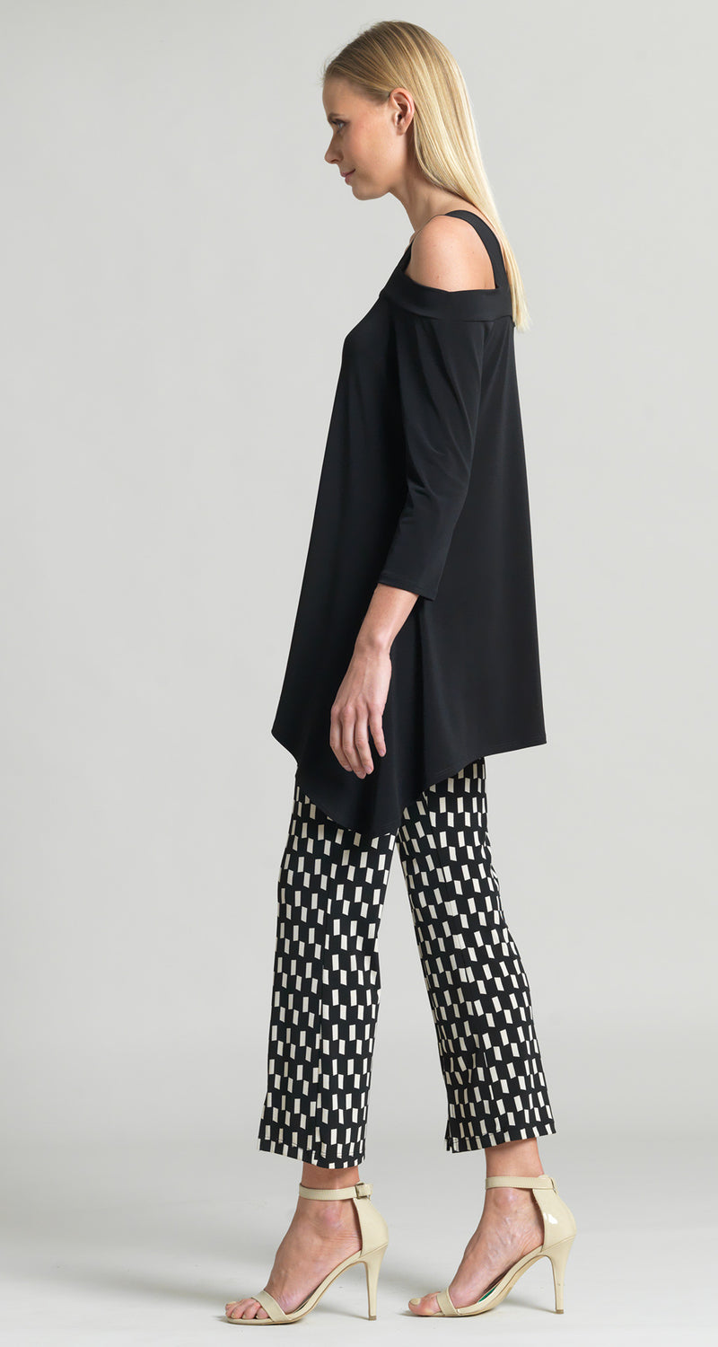 Signature Cold Shoulder Tunic - Black - Clara Sunwoo