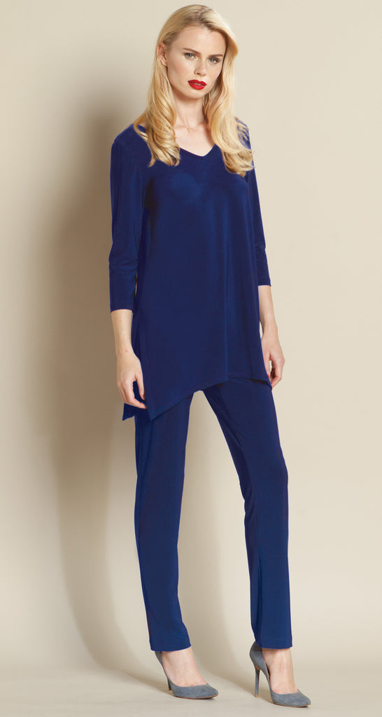 V Side Vent Solid Tunic - Cobalt - Final Sale!