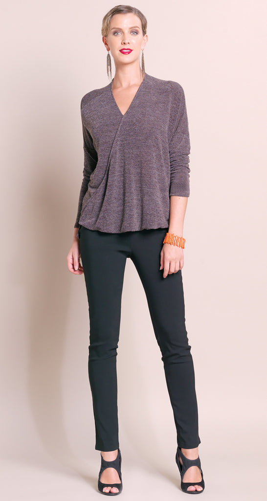 V-Neck High Low Sweater - Cocoa - Final Sale!