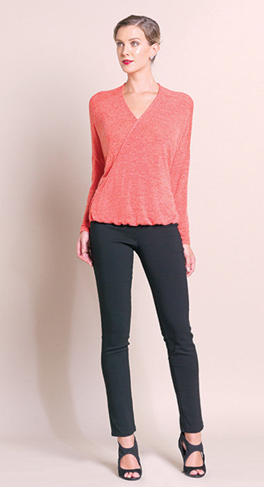 V-Neck High Low Sweater - Coral - Final Sale!
