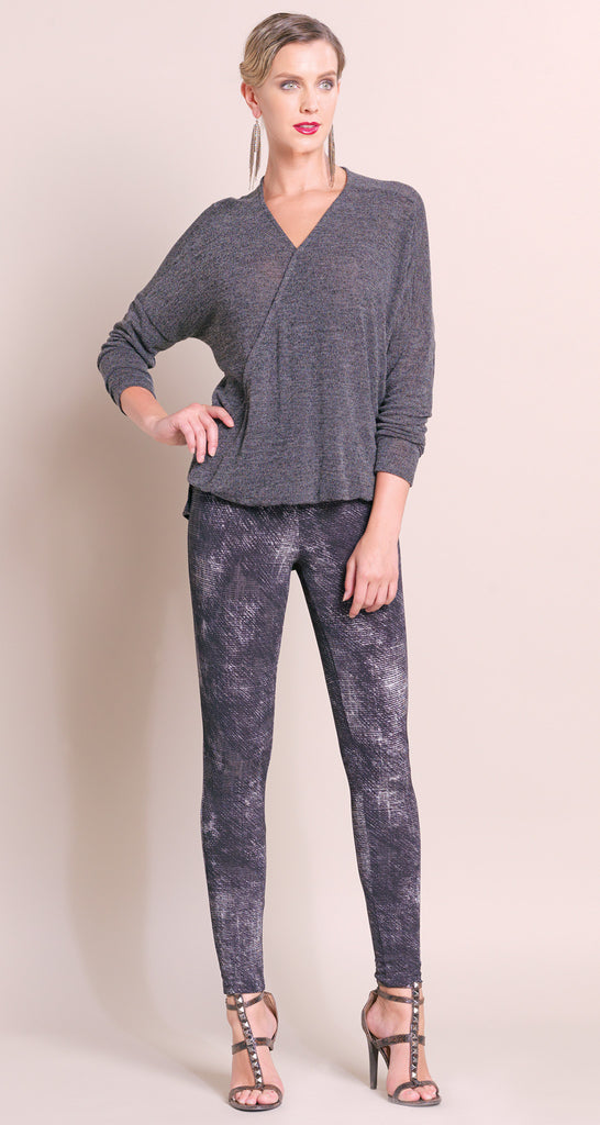 V-Neck High Low Sweater - Grey - Final Sale!