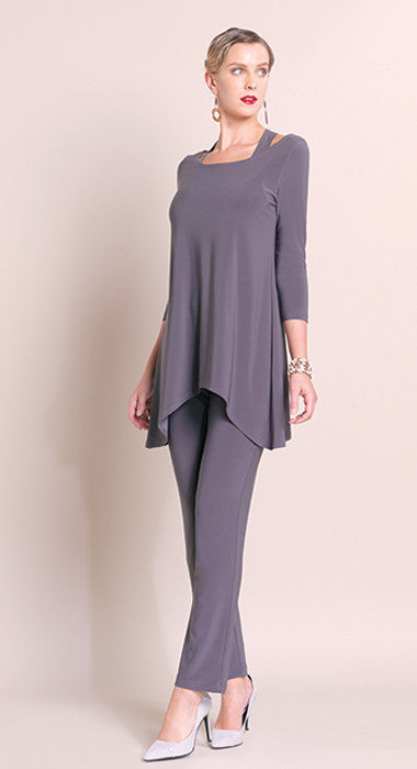 Racer Back Tunic - Charcoal - Final Sale!