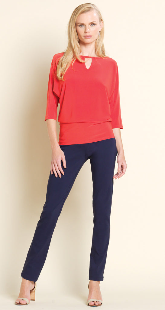 Keyhole Front Top - Coral - Final Sale!