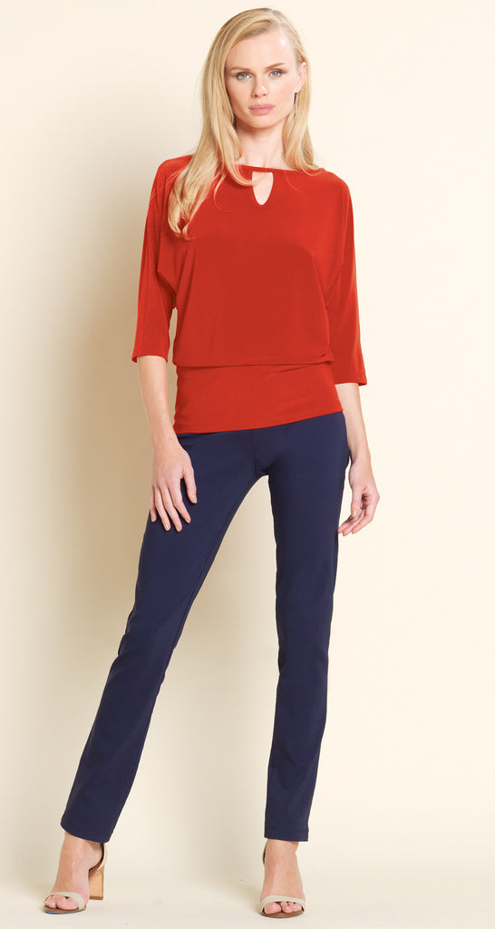 Keyhole Front Top - Red - Final Sale!