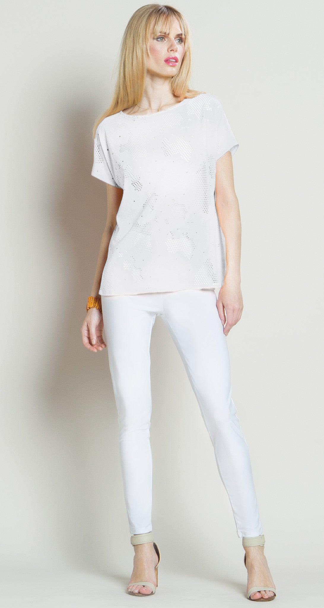 Eyelet Butter Soft Top White - Final Sale!