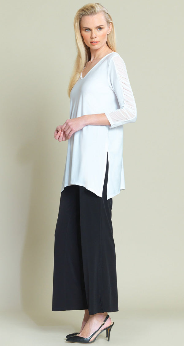 Mesh Sleeve Tunic - White - Final Sale! - Clara Sunwoo