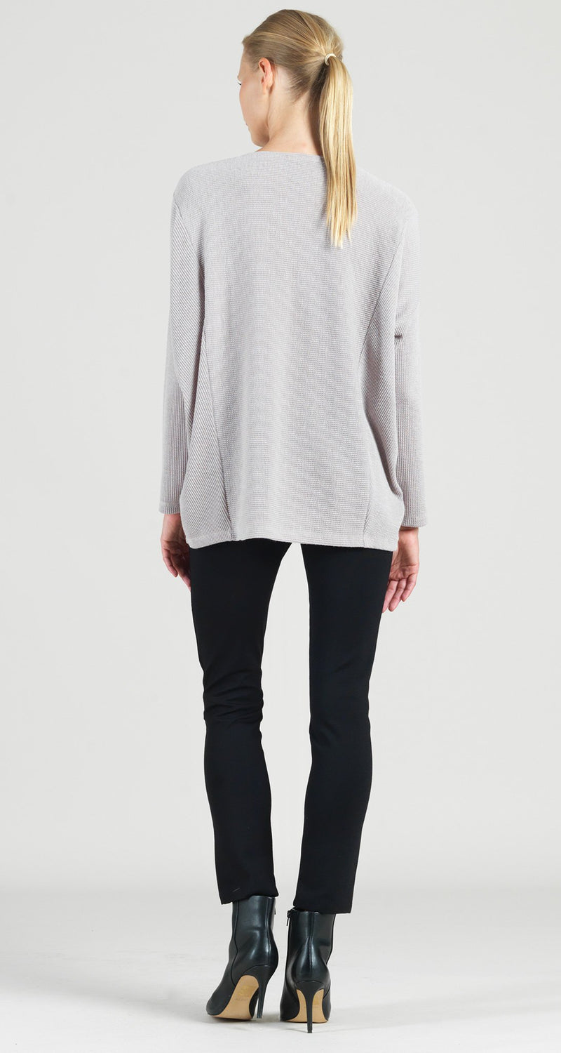 Waffle Knit Hi-Low Sweater Tunic - Desert Sand - Final Sale!