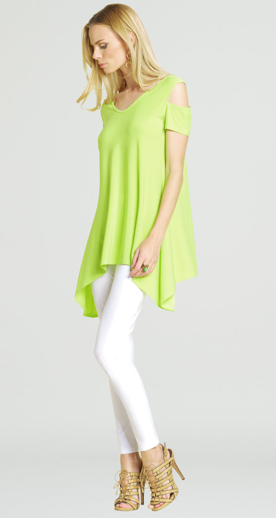 Open Shoulder V Tunic - Lime - Final Sale!