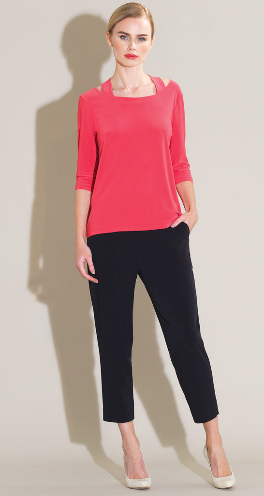 Faux Racer Back Top - Coral - Final Sale