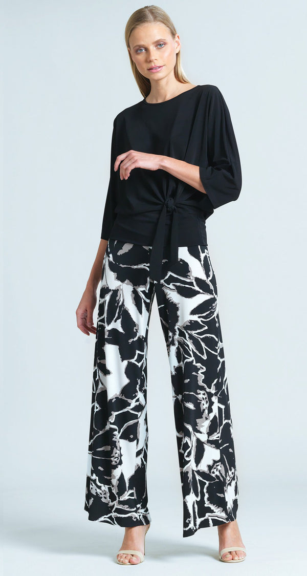 Abstract Floral Print Palazzo Pant - Final Sale!