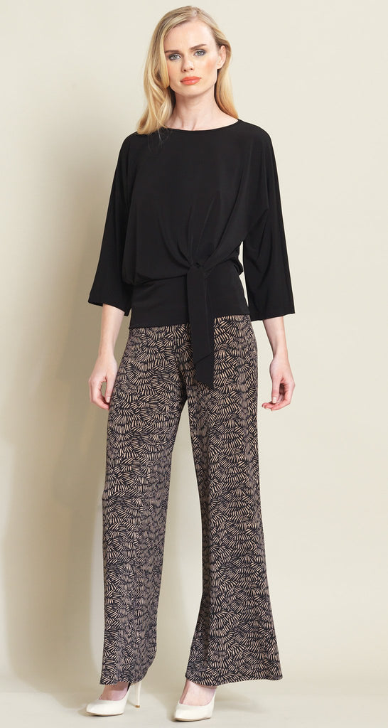 Pine Needle Print Palazzo Pant - Black/Copper - Final Sale!