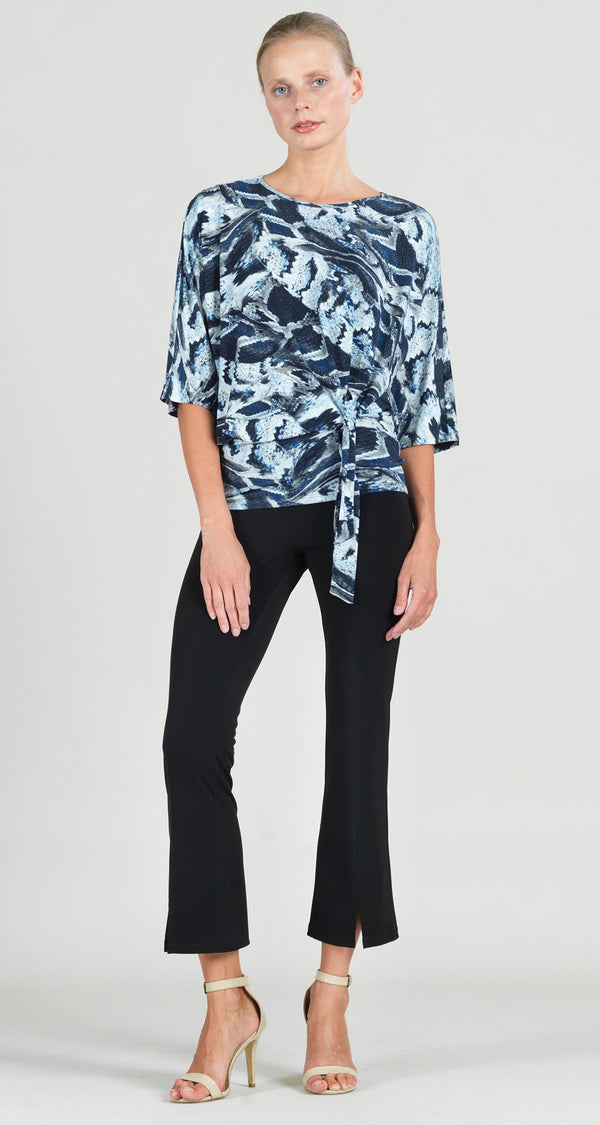 Brushed Python  Print Side Tie Top - Final Sale!