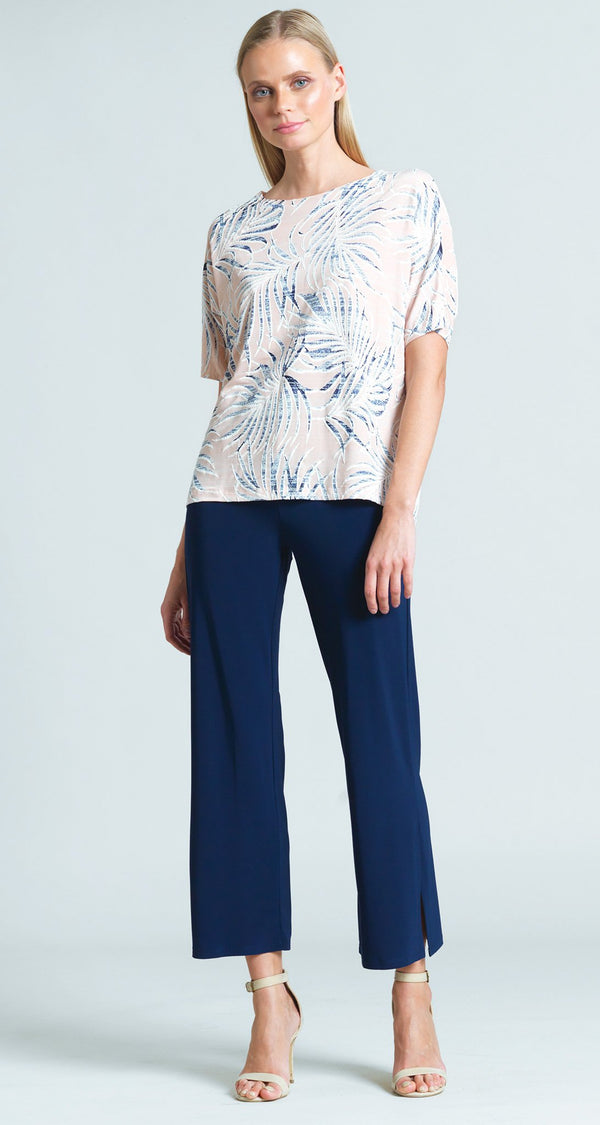 Tropical Floral Print V-Cross Bar Cut Out Top - Blush - Final Sale!
