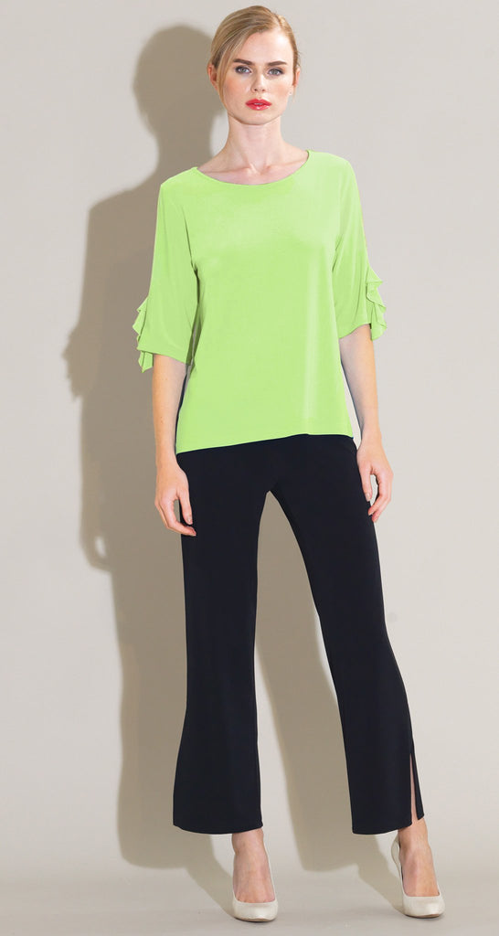 Ruffle Cuff Top - Lime