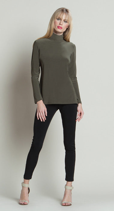 Mock Neckline Top - Olive - Final Sale!