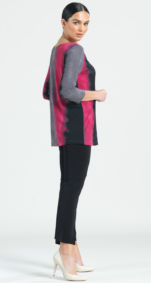 Ombre Print Scoop Neck Tunic - Fuchsia - Final Sale! - Clara Sunwoo