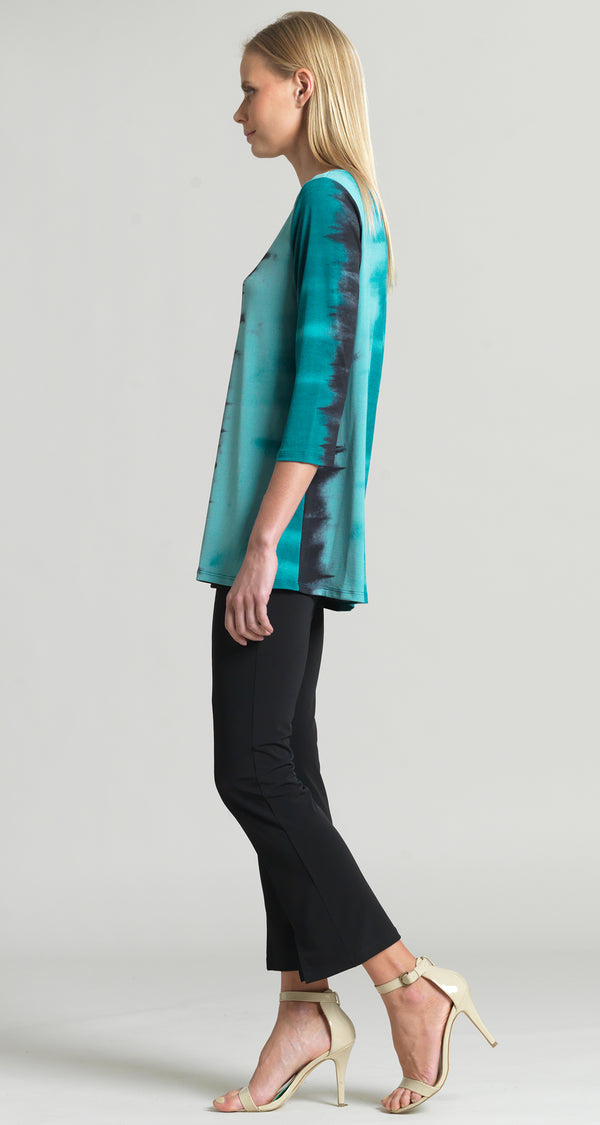 Ombre Print Scoop Neck Tunic - Green - Final Sale - Clara Sunwoo
