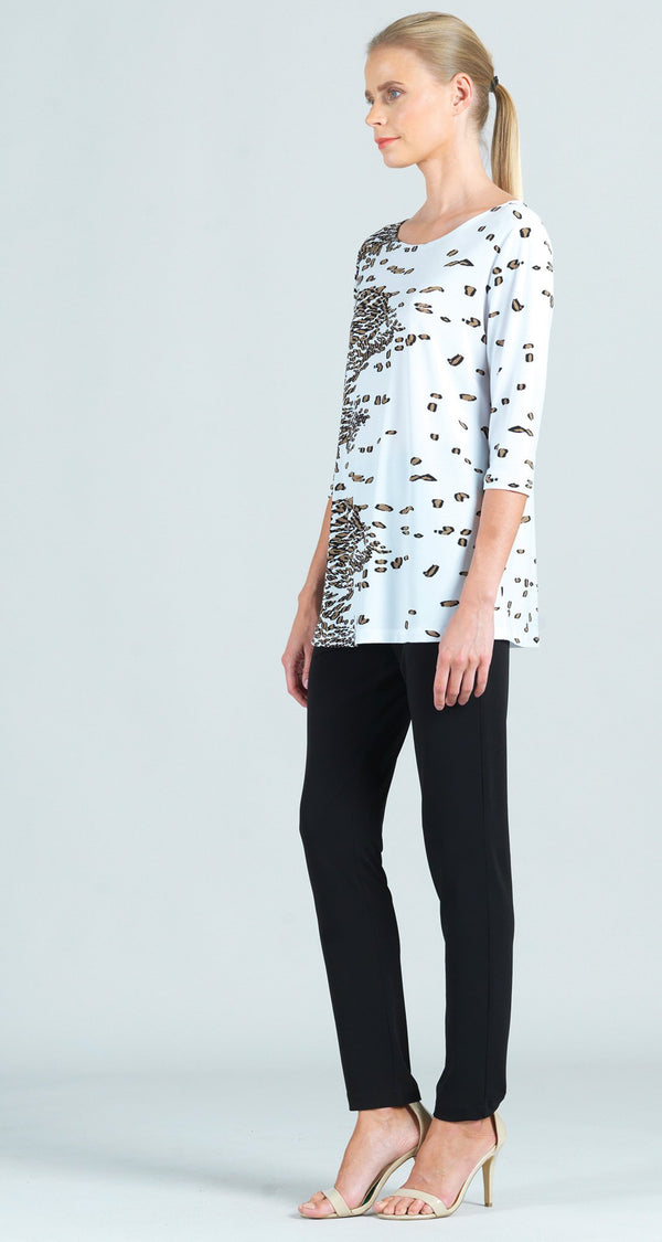 Geo Animal Print Scoop Neck Tunic - Limited Size XS Only!