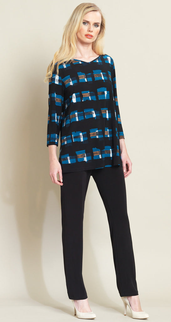 Square Print Tunic - Blue/Black