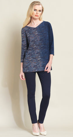 Ombre Stripes Sweater Tunic - Navy - Final Sale! - Clara Sunwoo