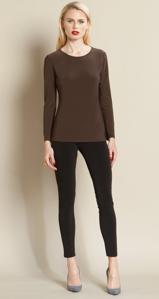 Basic Scoop Top - Brown - Final Sale