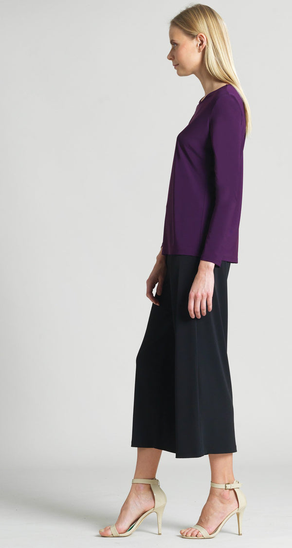 Basic Long Sleeve Scoop Top - Eggplant - Limited Sizes! - Clara Sunwoo