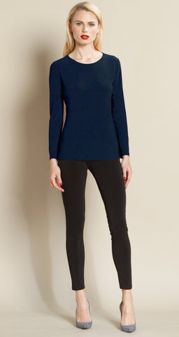 Basic Scoop Top - Navy - Clara Sunwoo