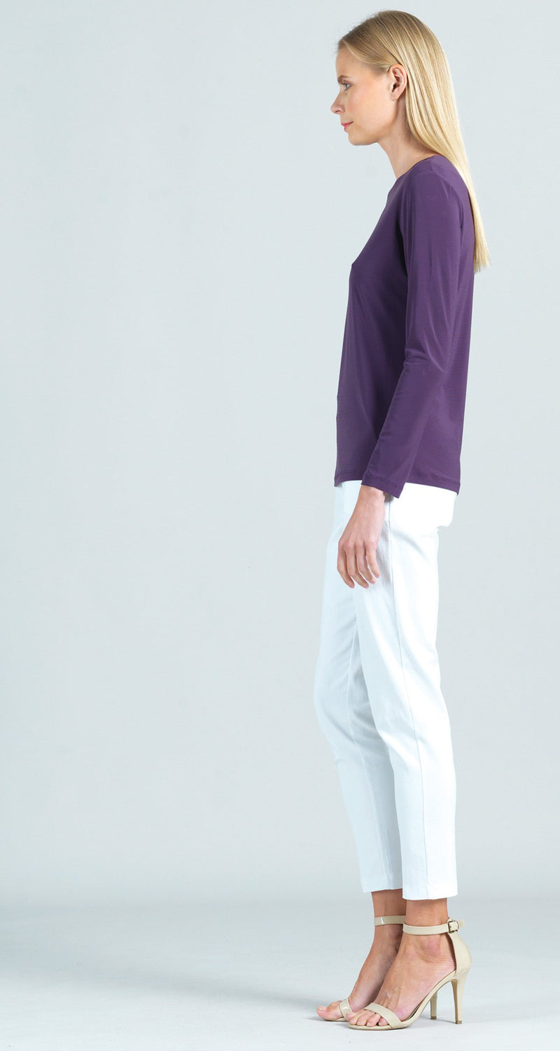 Basic Long Sleeve Crew Neck Top - Plum - Final Sale!