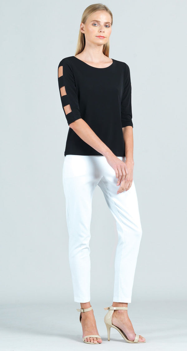 Techno Stretch Skinny Ankle Pocket Pant - White