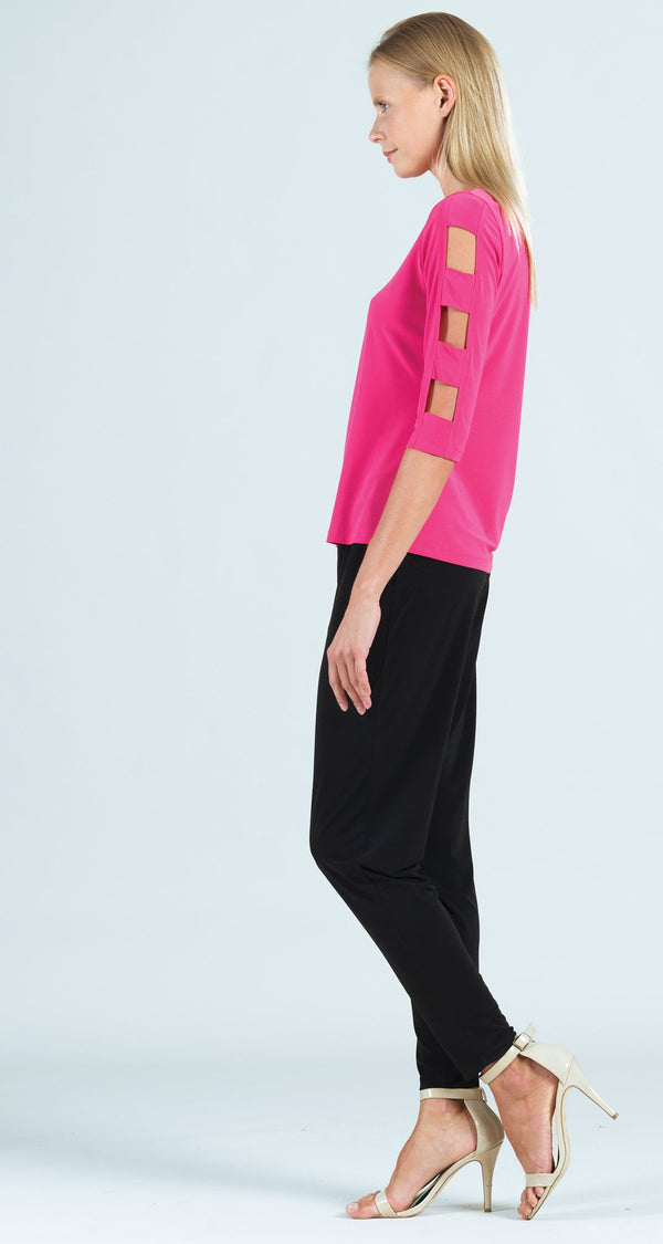 Ladder Sleeve Top - Pink - Limited Sizes XS Only!